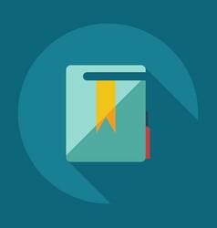 Flat modern design with shadow icons folder decree vector