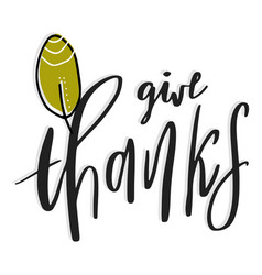 give thanks hand drawn vector image