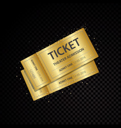 golden tickets and coupons templates vector image
