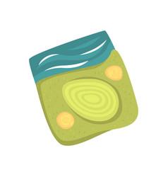 green golf course cartoon vector image