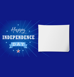 happy independence day usa lettering banner vector image