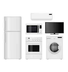home appliances household kitchen items vector image