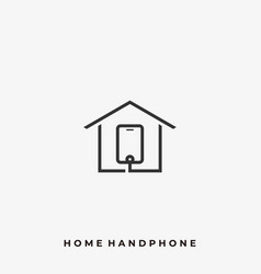 home hand phone template vector image