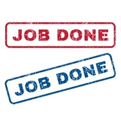 Job Done Rubber Stamps vector
