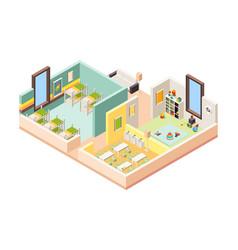 kindergarten interior playground room preschool vector image