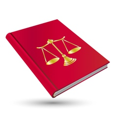 Legal book vector