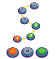 Level indicators for game ui map pointers vector