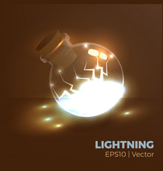 Lightning in bottle vector