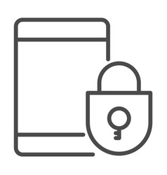 lock in a smart phone icon element of cyber vector image