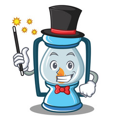Magician lantern character cartoon style vector
