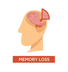 memory loss medical problem human brain anatomy vector image