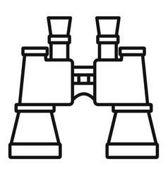 military binocular icon outline style vector image