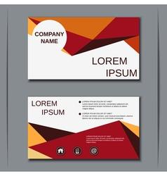Modern business visiting card design vector