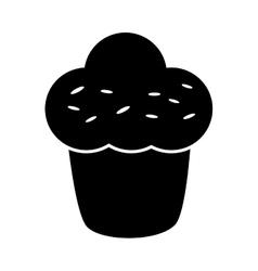 Muffin sweet dessert vector