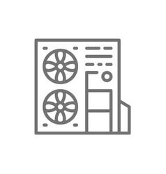 Multi-split system air conditioner line icon vector