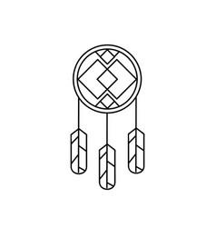 Native american indian design 01 vector