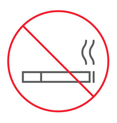 no smoking thin line icon prohibition vector image