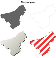 Northampton map icon set vector