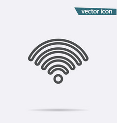 outline wifi icon flat wireless symbol iso vector image