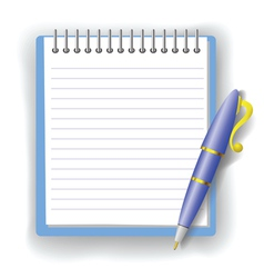 pen and notepad vector image