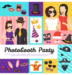 Photo Booth Party Design Concept vector image