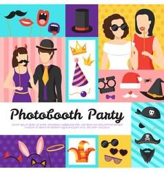 Photo Booth Party Design Concept vector