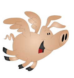 Pigs might fly vector