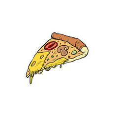 pop art piece of pizza vector image