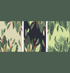 poster tropical leaves vector image