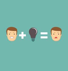 problems make you sad vector image