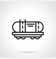 Railroad cistern simple line icon vector
