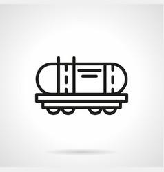 railroad cistern simple line icon vector image