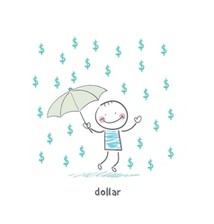 Rain dollars vector
