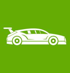 rally racing car icon green vector image