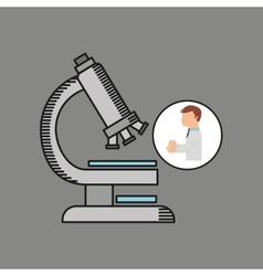 scientist worker research test microscope graphic vector image