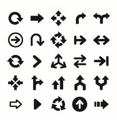 set black universal arrows vector image