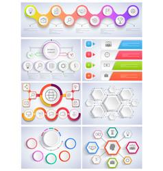 Set infographics flat design vector