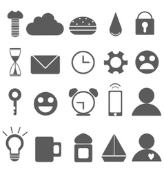 Set of Universal Outline Icons For Web and Mobile vector image