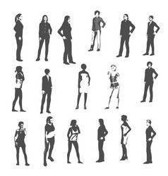Sexy women silhouette vector