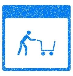 Shopping Cart Calendar Page Grainy Texture Icon vector
