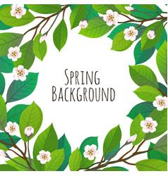 Spring floral background vector