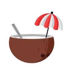 summer coconut drink relax symbol design vector image