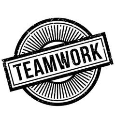teamwork rubber stamp vector image