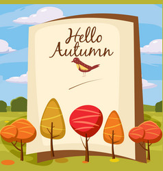 template design autumn poster brochures posters vector image