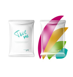 Transparent pillow bag template for easy branding vector
