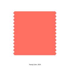 Trendy color 2019 by plain color patch vector
