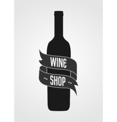 Vintage logotype for wine shop Poster or wine vector image