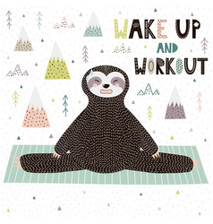 wake up and workout motivational print vector image