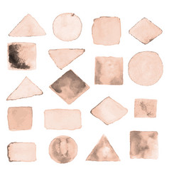 Watercolor geometric design elements3 vector