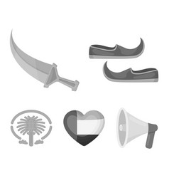 Eastern shoes dagger the heart of the emirates vector